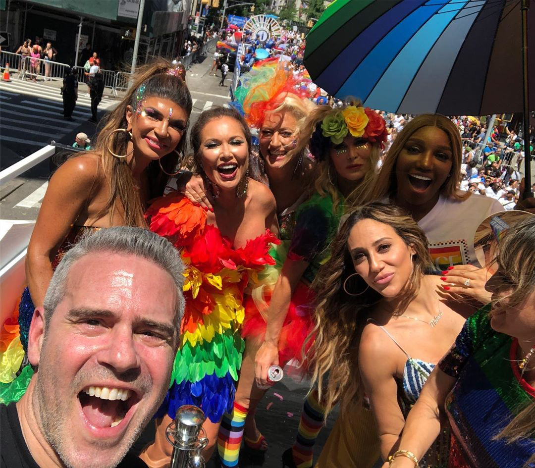 Andy Cohen, Real Housewives Take to the Streets for NYC Pride Parade