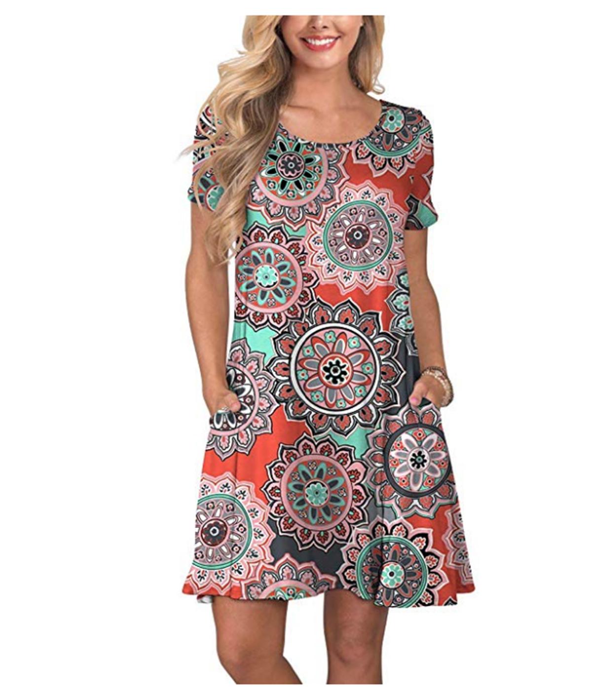 KORSIS Women's Summer Casual T-shirt Dress