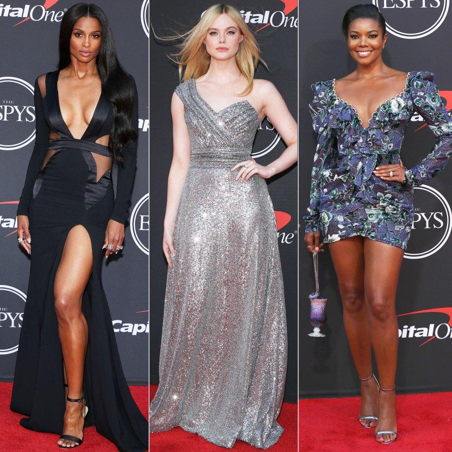 2019 ESPY Awards Ciara, Elle Fanning, Gabrielle Union