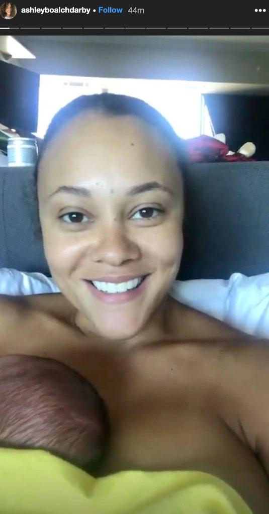 Ashley Darby Breast Feeding