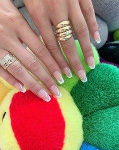 Bella Hadid French Manicure Instagram