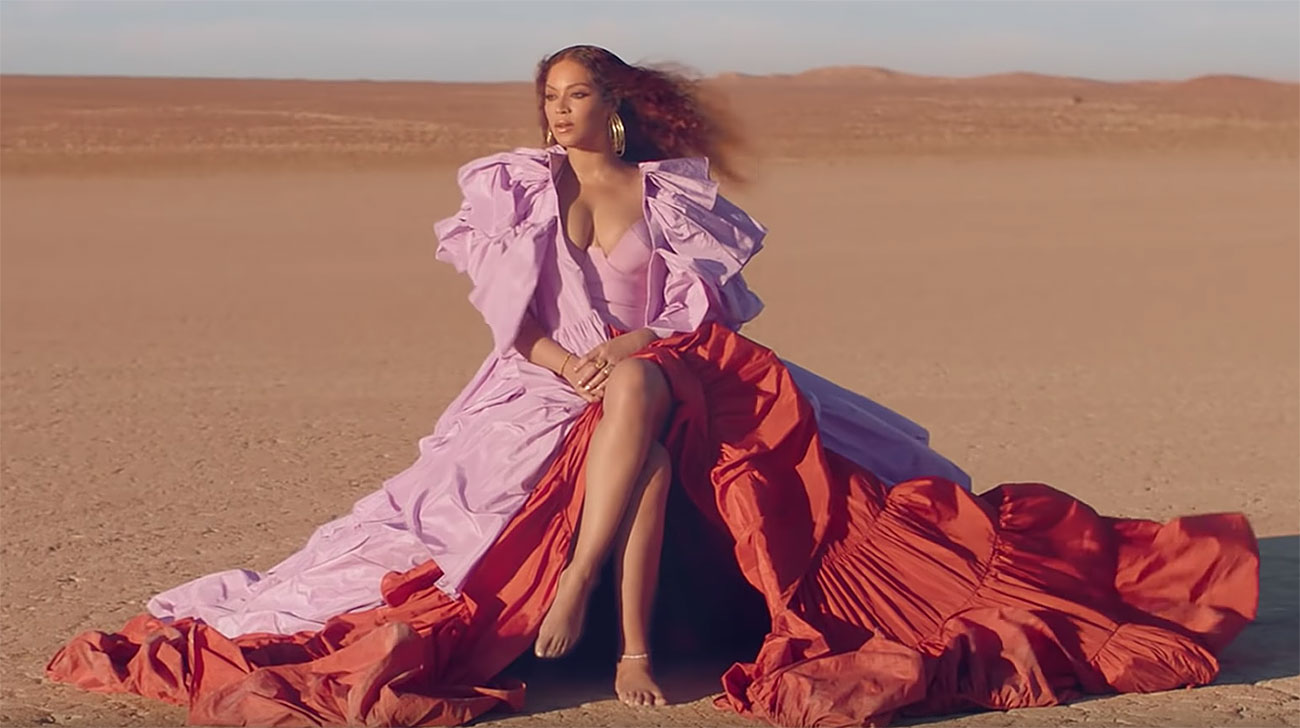 Beyonce's Dresses in 'Spirit' Music Video for 'The Lion King'