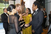 Beyonce and Duchess Meghan Sweetly Embrace Each Other at 'Lion King' Premiere