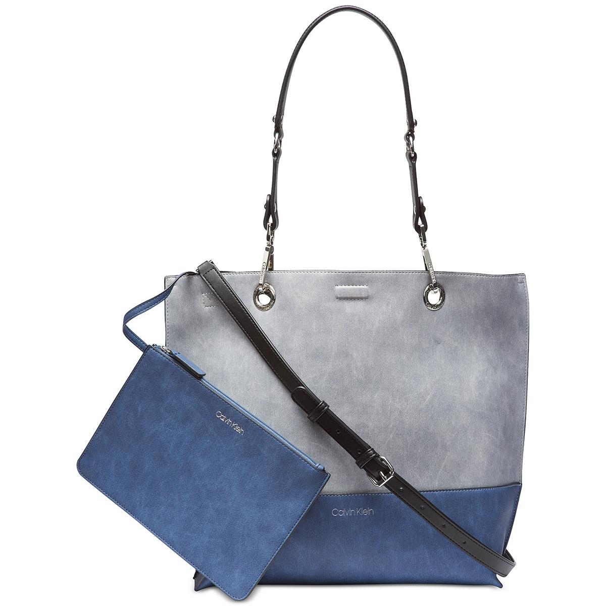 Blue Grey Bag