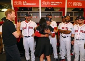 Boston Red Sox Mookie Betts Meghan Markle Hug