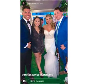 Brittany Cartwright Wedding Dress Instagram
