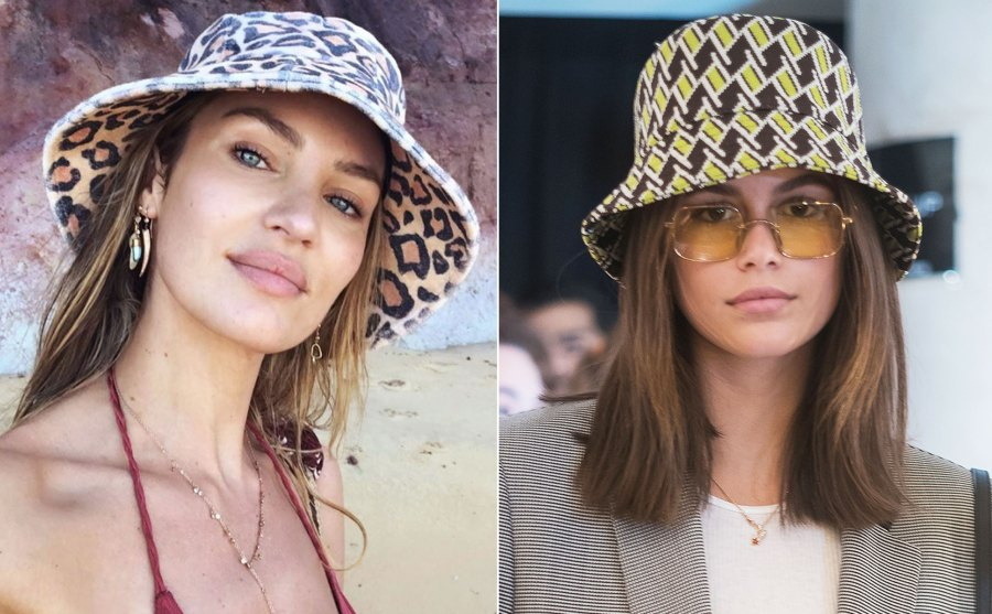 Candice Swanepoel and Kaia Gerber Wear Bucket Hats