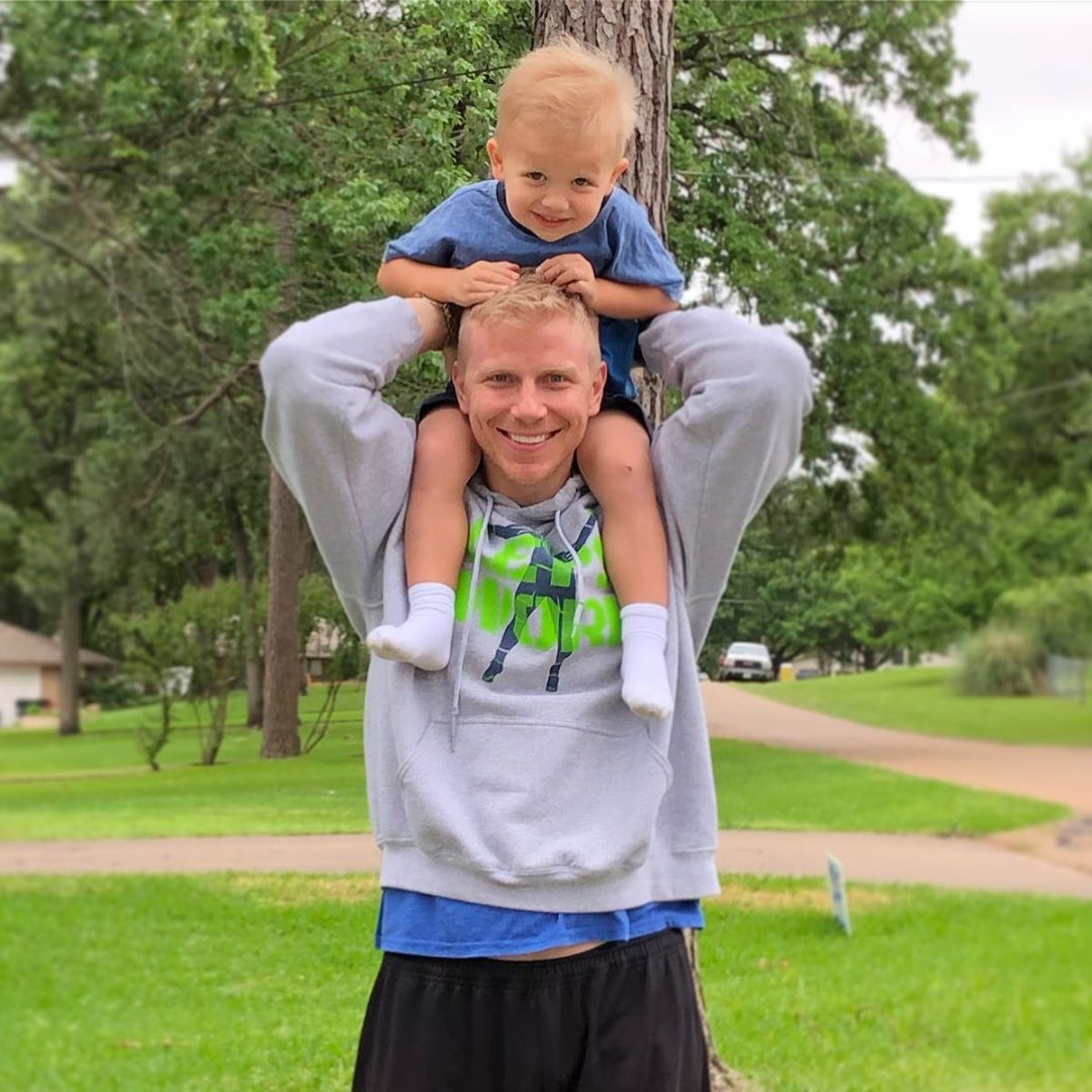 """Catherine Giudici and Sean Lowe Family Album - """"These boys give my heart butterflies,"""" Giudici captioned a photo of her husband holding Samuel."""