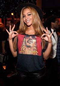 Celebs Wearing Celebs - Beyonce Wearing Stevie Wonder