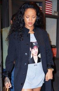 Celebs Wearing Celebs - Rihanna Wears Hillary Clinton