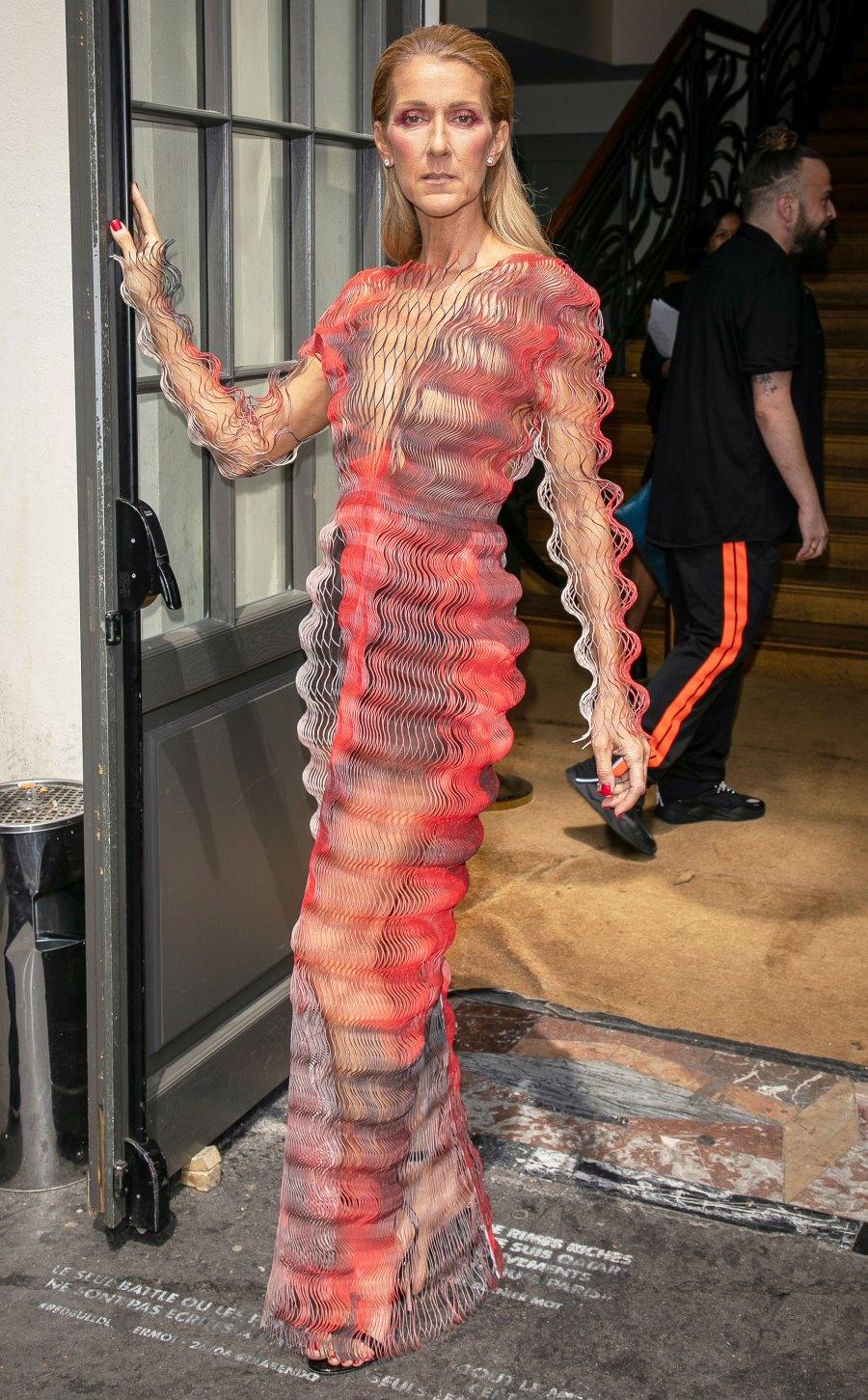 Celine Dion Ombre Dress July 01, 2019