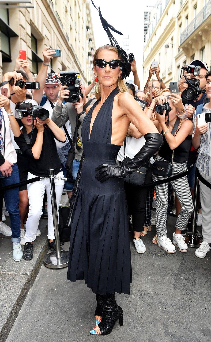 Celine Dion Black Outfit July 01, 2019