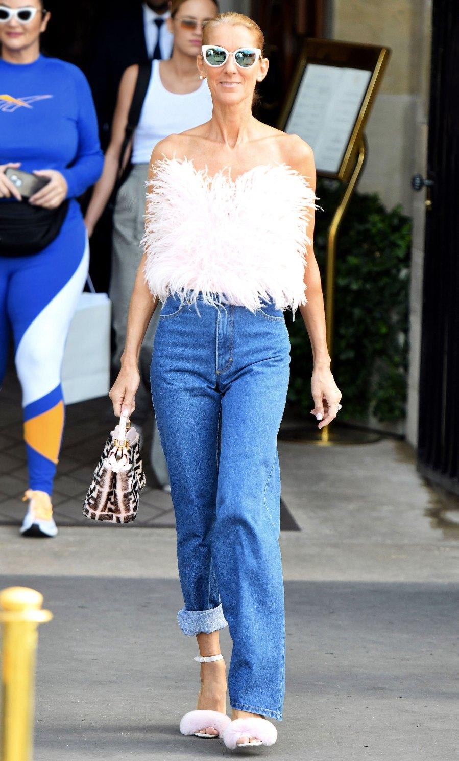Celine Dion Shaggy Pink Top June 28, 2019