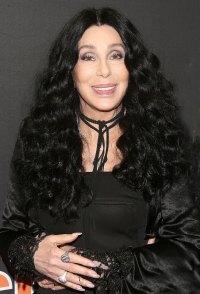 Cher Black Dress Long Black Curly Hair