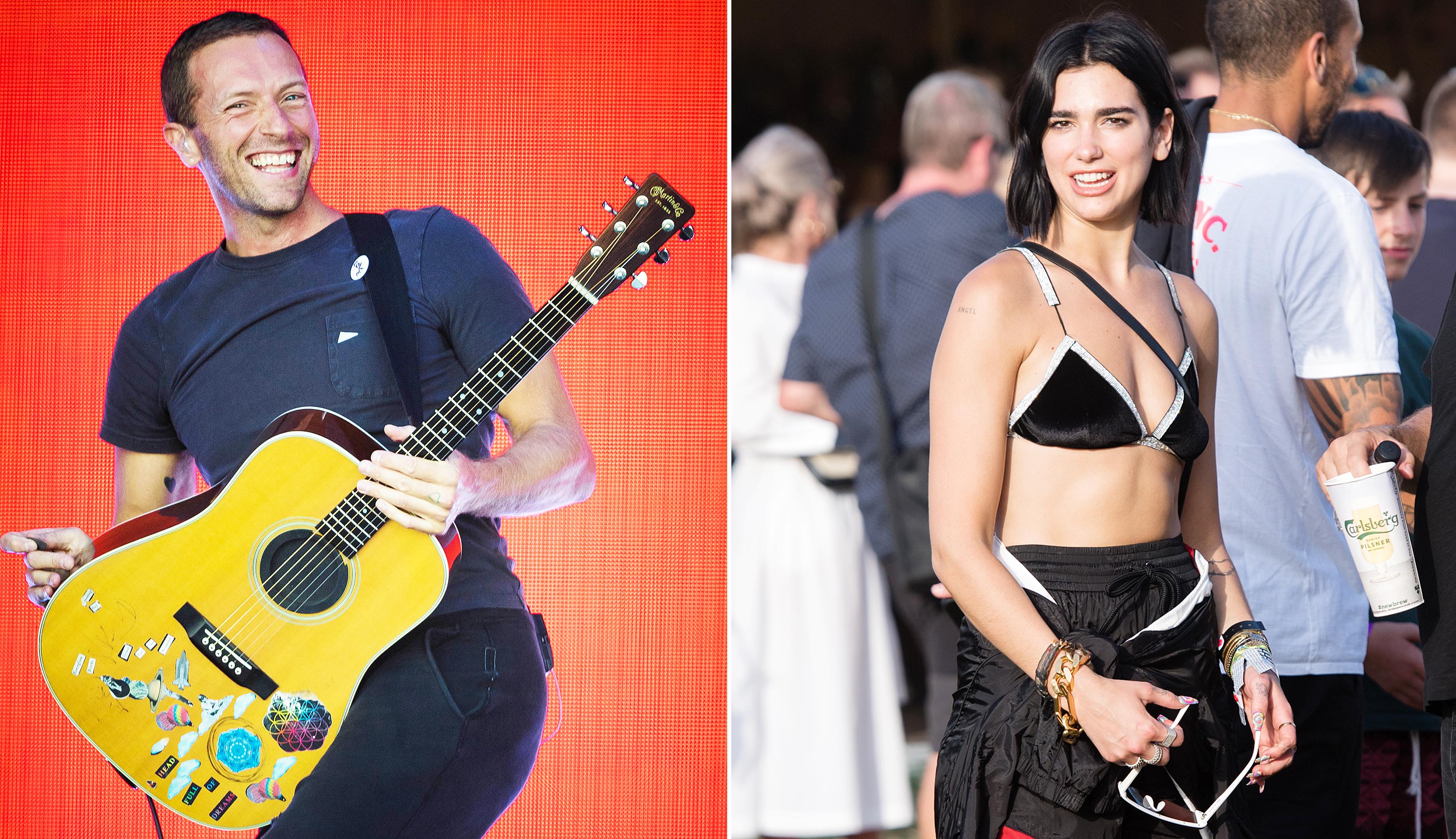 Chris Martin's Rep Denies the Coldplay Singer Kissed Dua Lipa at Glastonbury Music Fest Amid Dakota Johnson Split Rumors