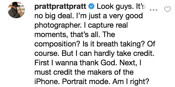 Chris Pratt Instagram Reply To Katherine Schwarzenegger