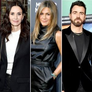 Courteney Cox Posts Sweet Message After Jennifer Aniston's Dog Dies Justin Theoroux