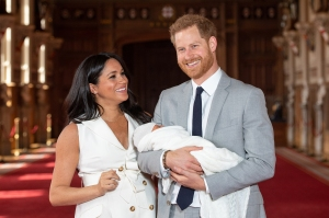 Duchess Meghan with Prince Harry and Baby Archie