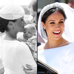 Duchess Meghan Wears Cartier Earrings From Wedding at Archie's Christening