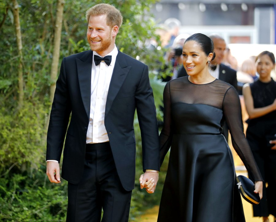 Duchess Meghan and Prince Harry Attend First Red Carpet Since Baby Archie for 'Lion King' Premiere: Pics