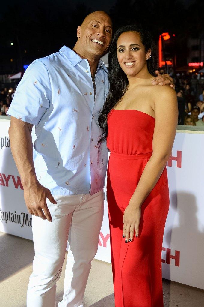 Dwayne Johnson and daughter Simone Johnson