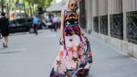 Caro Daur wearing a maxi dress