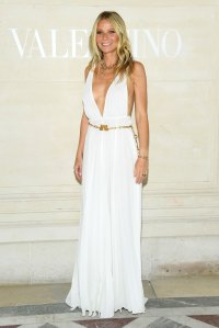 Gwyneth Paltrow Long White Dress Valentino