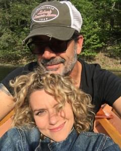 Jeffrey Dean Morgan Celebrates Hilarie Burton