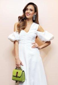 Jessica Alba White Dress June 22, 2019