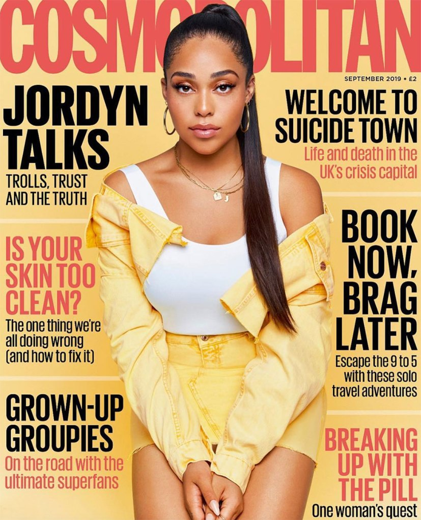Jordyn Woods Cosmopolitan UK September 2019 Cover Cheating Scandal