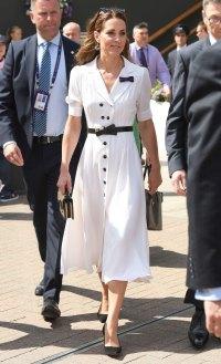Kate Middleton Wimbledon White Dress July 2, 2019