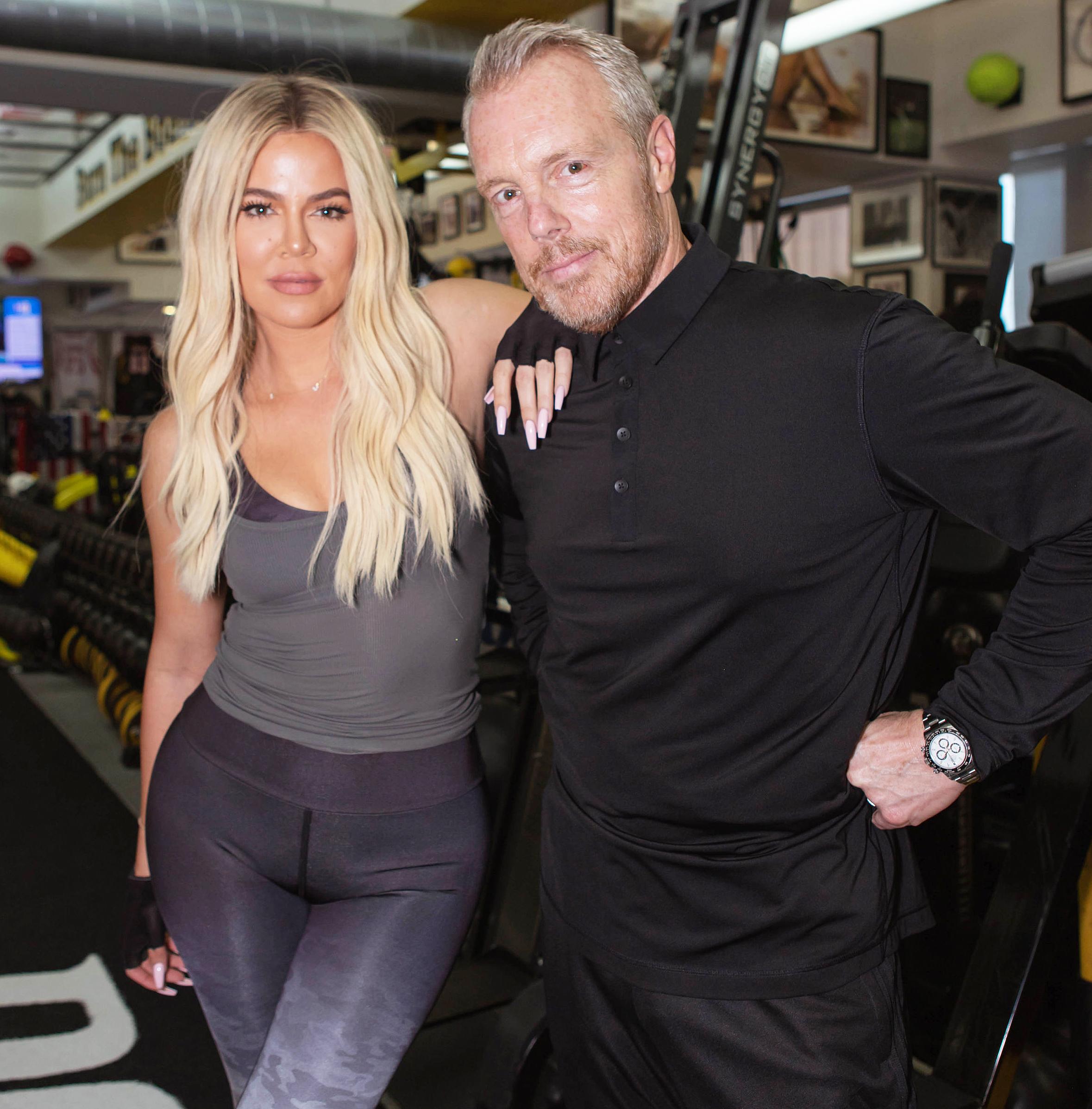 Khloe Kardashian and Trainer Gunnar Peterson Unique Workout Motivation Techniques