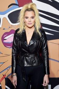 Khloe Kardashian Leather Jacket November 14, 2018
