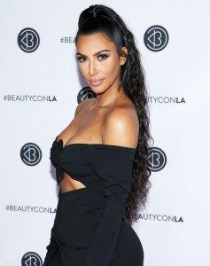 Kim Kardashian West Black Dress
