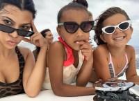 Kourtney Kardashian Penelope Disick North West Sunnies