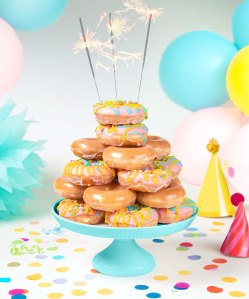Krispy Kreme Will Celebrate Its 82nd Birthday With These Cake Batter-Filled Doughnuts