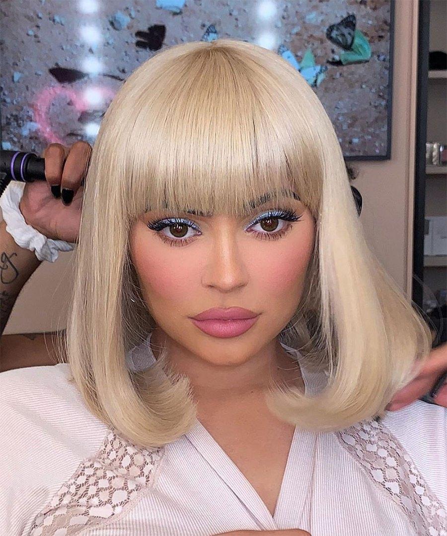 Kylie Jenner Blonde Wig Instagram July 10, 2019