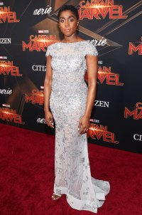 Lashana Lynch Captain Marvel Los Angeles Premiere March 4, 2019
