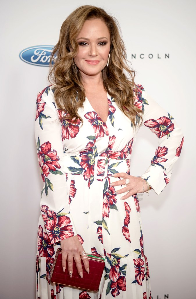 Leah Remini Flower Dress Sue Church of Scientology