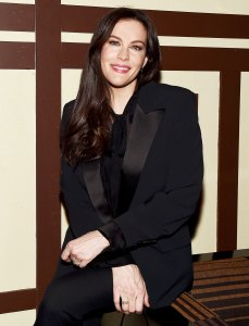 Liv Tyler Black Suit April 8, 2018