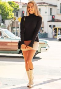 Margot Robbie as Sharon Tate in Once Upon A Time In Hollywood