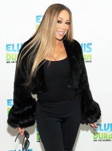 Mariah Carey Cropped Fur Coat November 20, 2018