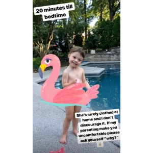 Meghan King Edmonds Defends 'Rarely' Clothing Daughter at Home