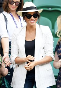 Meghan Markle A Necklace Wimbledon July 4, 2019