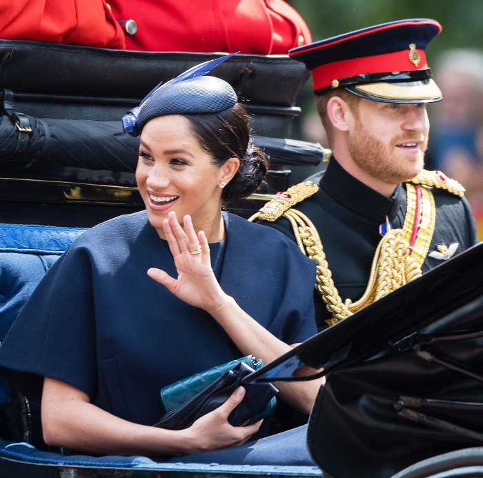 Meghan Markle Diamond Band Trooping the Colour