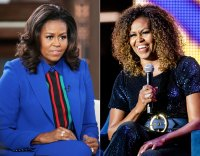 Michelle Obama Hair Color Change Before and After