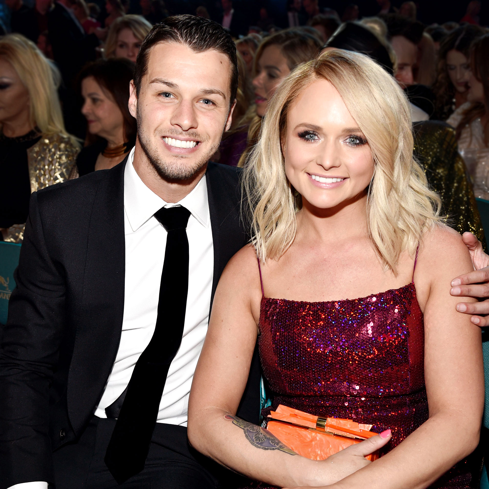Miranda Lambert Jokes About Marrying Brendan McLoughlin and Doing 'Weird S--t' When She Has Time Off Academy Of Country Music Awards Black Suit and Sparkly Red Dress