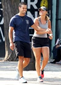 Miranda-Lambert-and-Brendan-McLoughlin-NYC-laughing