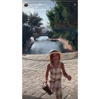 Penelope Disick Plaid Outfit Fedora
