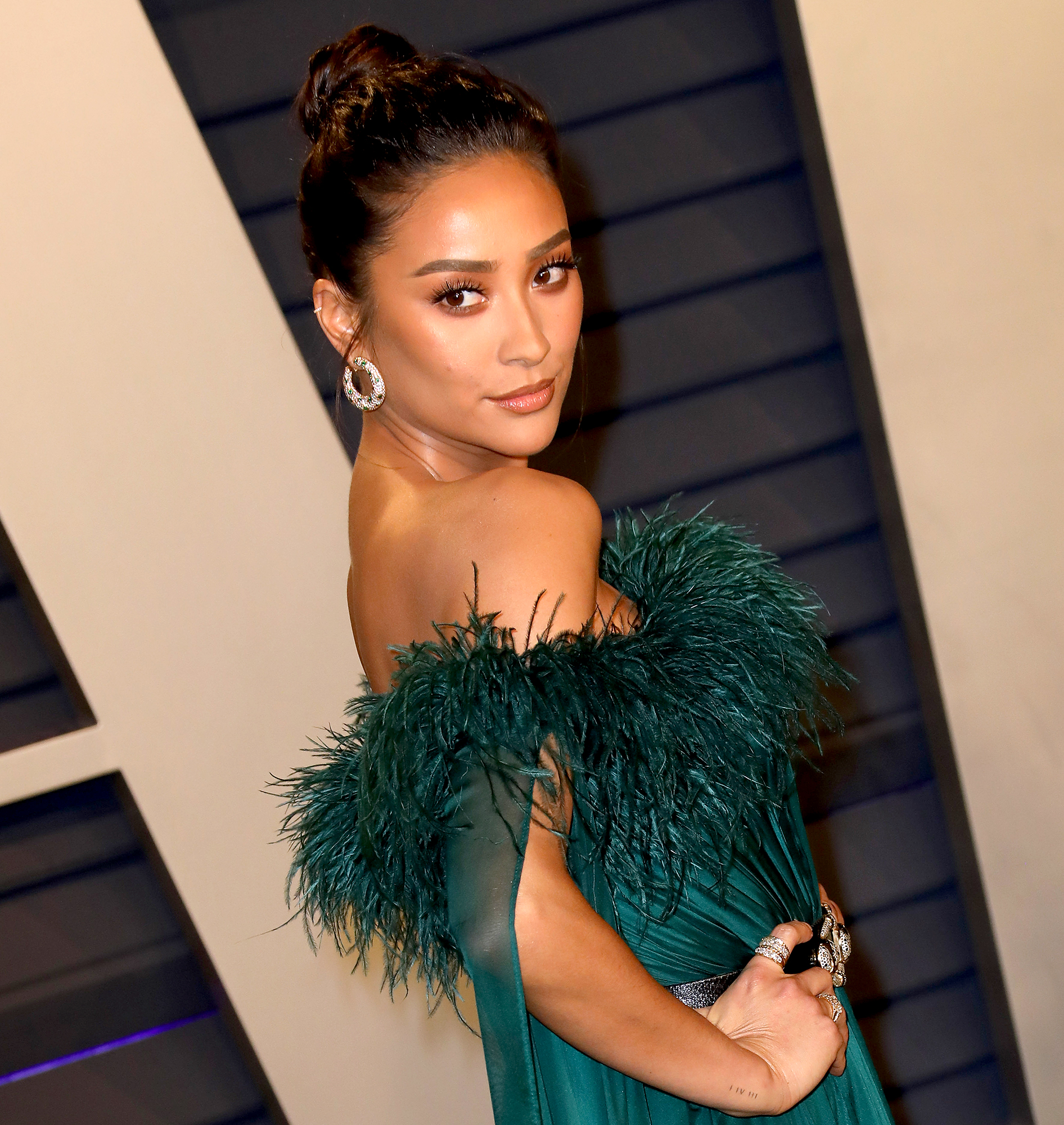 Pregnant-Shay-Mitchell-Responds-to-Criticism-of-Her-Meal - Shay Mitchell attends the 2019 Vanity Fair Oscar Party hosted by Radhika Jones at Wallis Annenberg Center for the Performing Arts on February 24, 2019 in Beverly Hills, California.